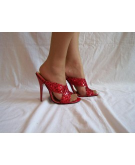Sandals with red sequins size: 36-41