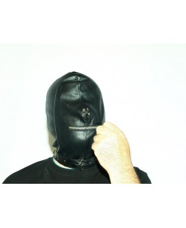 Artificial leather mask sizes s-2xl