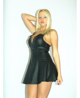 The latest collection of FASHION STYLE - leather dress S-XXL