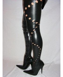 Latex rubber boots 100% solution 36-46 13cm heel