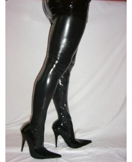 Latex boots with zipper solution 36-46-obcas13cm