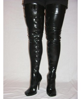 Natural latex boots size S 36-41 13cm heel